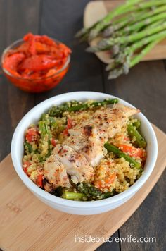 Roasted Red Pepper and Asparagus Quinoa 4