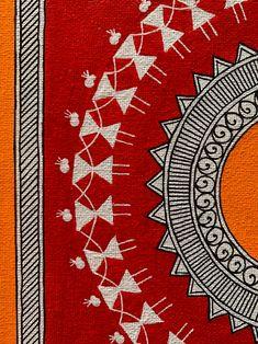 Worli Painting, Mandala Painting, Mandala Art, Fabric Painting, Pichwai Paintings, Indian Art Paintings, Madhubani Art, Madhubani Painting, Om Art