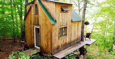 A rustic tiny house built with plenty of love and on a small budget.