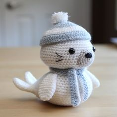Make this cute little seal pup with an easy to follow Free Pattern!