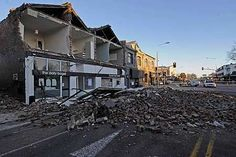 A 7.1 magnitude earthquake struck Christchurch in the early hours of September 4 destroying buildings, bursting water pipes and wrecking roads.  Photo by Getty Images Sep 4, 2010