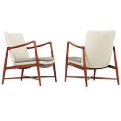 Finn Juhl, pair of BO-59 loungechairs