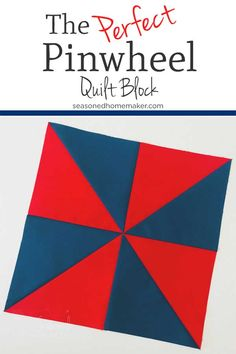 Want to learn how to make a simple quilt block? The Pinwheel Quilt Block is easy and versatile. It can be used to make numerous quilts. The secret to this block is half square triangles. Find out How to Make a Perfect Pinwheel Quilt Block Pinwheel Quilt Pattern, Quilt Block Patterns, Pattern Blocks, Quilt Blocks, Sewing Patterns, Patch Quilt, Quilting For Beginners, Quilting Tips, Quilting Tutorials