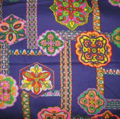 1970s Vintage Fabric  THC Hawaiian Fabric  by SelvedgeShop on Etsy, $12.00