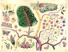 Josef Frank, sketch for the fabric Hawaii, 1943-1945 – as published on the catalogue Josef Frank / Against Design, following the exhibition of the same name at the Mak Museum of Vienna, 2016.