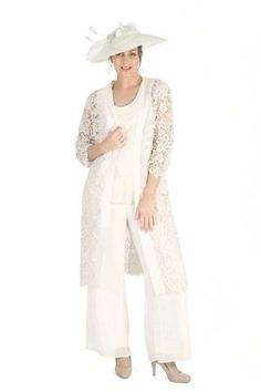 Pant Suits Scoop Ankle-length Chiffon Mother of the Bride Dress dd335b23c369