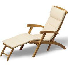 Deck Chair In Garden