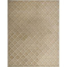 Safavieh Handmade Precious Beige Polyester/ Wool Rug (5' x 8')