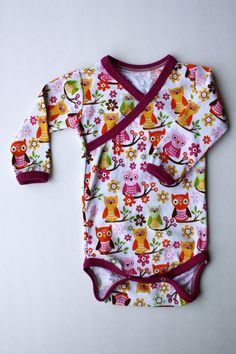 1218 month Sweet Owl Kimono Style Onesie by ZaaBerry on Etsy, $18.00
