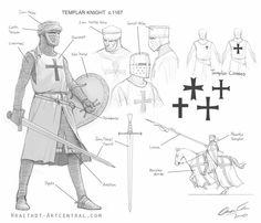 Templario, armadura en inglés