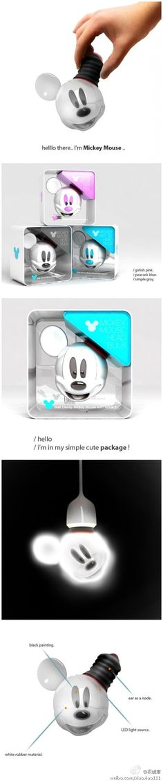Disney design Disney home Mickey light bulb! Deco Disney, Disney Style, Disney Love, Mickey Minnie Mouse, Disney Mickey, Disney Pixar, Mickey Mouse Kitchen, Disney Home Decor, Disney Crafts