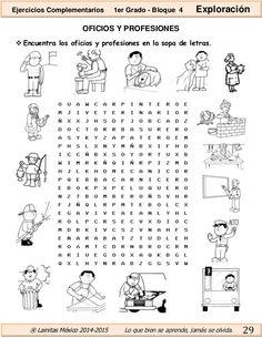Image result for fichas para trabajar los oficios en primaria
