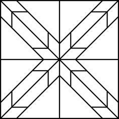 Barn Quilt Patterns, Star Patterns, Pattern Blocks, Star Quilt Blocks, Star Quilts, Hunters Star Quilt, Quilting Designs, Quilting Ideas, Quilt Design