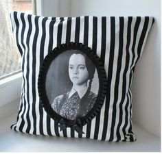 Family portraits on pillows-perfect.