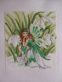 Cross Stitch Gold 107  Magazine -> Snowdrop Fairy by Durene Jones .