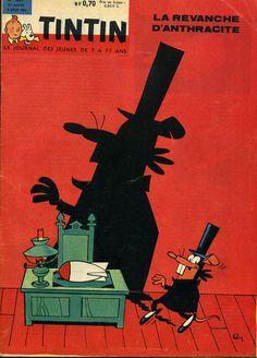 Raymond Macherot : La revanche d'Anthracite en couverture de Tintin - 1961