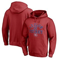 Montreal Canadiens Fanatics Branded Hometown Collection Le Club Pullover Hoodie - Red