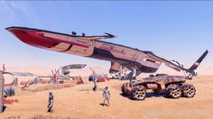 Mass Effect Andromeda Tempest Ship and Nomad vehicle | N7 Day 2016 : Informations détaillées sur Mass Effect Andromeda ...