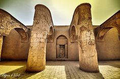 Explore the beauty of iran The Tarikhaneh or 'House of God' mosque, Damghan, Semnan Province Chateaus, My Land, Cathedrals, Capital City, Mosque, Homeland, Tents, Monuments, Iran