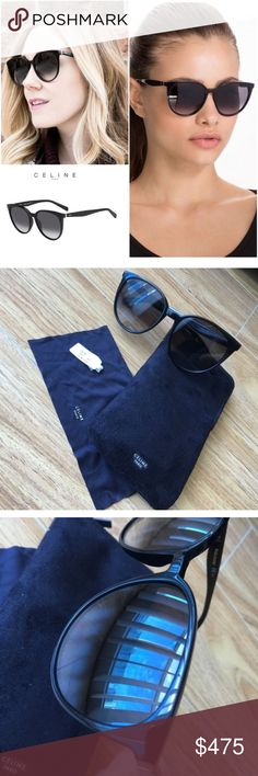 f9355f68c6 Celine thin Mary shadow black sunglasses ASO Kim k Authentic Celine  sunglasses with shadow lenses.
