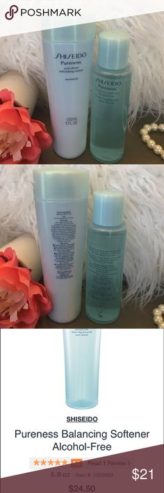 Shiseido Pureness Skincare Bundle Duo of Shiseido Skincare products includes: Shiseido Pureness Anti-Shine Refreshing Lotion- 150ml/5oz and Shiseido Pureness Balancing Softener (Toner)- 100ml/3.3oz. These are brand new but have been tried once each. Love this Skincare line and use several others daily. These smell divine! *Bonus Shiseido Refining Moisturizer mini, plus free samples with purchase! ❤ Shiseido Other