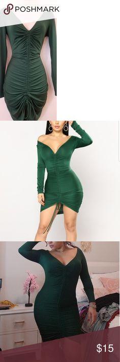 434cffd6c0de Fashion nova runched dress Hunter green fashion Nova runched dress. Never  worn. Without tags