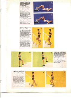 Various leg exercises