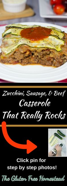 Sensational taste alert! | Click on pin for step by step photos & tips | Gluten-free | How to make zucchini casserole | gluten free recipe | How to recipe | paleo recipe | low carb