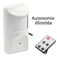 Une caméra cachée dans un détecteur de mouvement. Pour une surveillance discrète et surtout illimitée. Camera Surveillance, Headphones, Electronics, Motion Detector, Headpieces, Ear Phones, Consumer Electronics