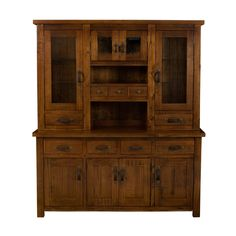 This Hillsdale Furniture buffet with hutch is available in a distressed chestnut finish. Description from atgstores.com. I searched for this on bing.com/images