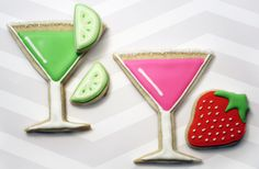 Lime and Strawberry Martini Cookies
