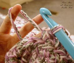 How to Speed Crochet. Holding 3 strands of yarn at the same time. Make a blanket in no time at all.