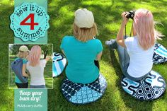 Water Resistant Lawn Cushions with Carry Duffle | Sew4Home