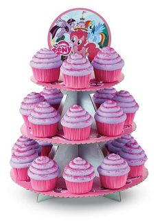 Your party cupcakes will look extra festive displayed on this My Little Pony…