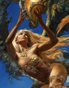 Anyea (detail) by Julie Bell & Boris Vallejo