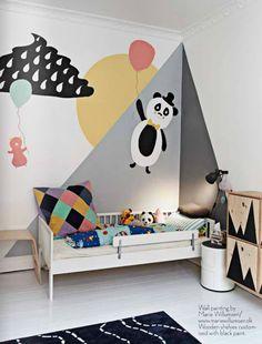 A playful kid's bedroom
