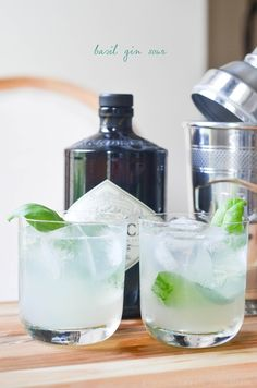 basil gin sour   prosecco in the park