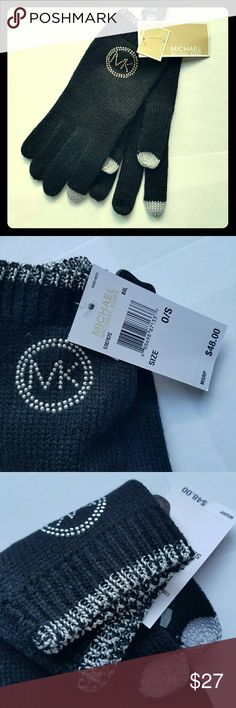Michael Kors gloves NEW WITH TAGS Authentic Michael Kors gloves Tech gloves! Black with silver details  Simple chic and elegant   New with tag! $48 tag price Fall 2017 collection  P.S. check my closet for more MK scarves, gloves and hats Michael Kors Collection Accessories Gloves & Mittens