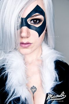 Black Cat Marvel Cosplay like the makeup and hair ....