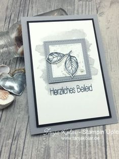 Tasty mourning cards for special people (Be creative with Tanja) Stampin Up Karten, Karten Diy, M Craft, Letter A Crafts, Fall Crafts For Kids, Special People, Fall Flowers, Masculine Cards, Sympathy Cards