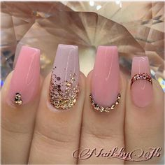 50 birthday nails art design that make you like a queen 18 Dope Nails, Bling Nails, My Nails, Nail Designs Bling, Nail Art Designs, Nails Design, Stylish Nails, Trendy Nails, Nagel Bling