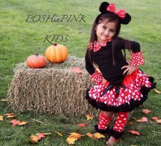 Minnie Mouse inspired  pettiskirt outfit, costume, petti-skirt 1-7 years, red black Disney tutu, baby, girls, toddler, fluffy tulle chiffon by POSHinPINKKIDS on Etsy