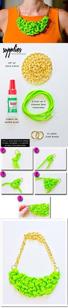 Oro de DIY de la cadena de moda collar de tela