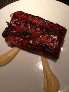 Pluma cut of Iberico pork - high fat, that's why it taste so good! Thankfully shared
