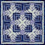 Patchwork pattern: Log Cabin-Like (quiltnieuws)