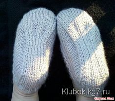 slippers for Discussion on LiveInternet - Russian Service Online diary Knitting Stitches, Knitting Socks, Knitting Patterns Free, Crochet Patterns, Free Knitting, Crochet Puntada Bobble, Bobble Stitch Crochet, Knitted Booties, Knitted Hats