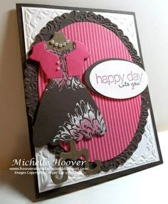 Double embossing giving a two-tone look - ingenious! Details on website http://www.toocoolstamping.com/toocoolstamping/technique-double-embossing/