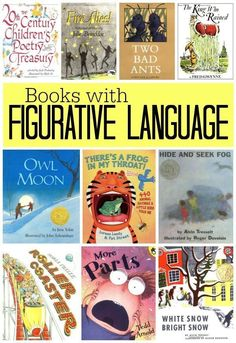 List of Books with Figurative Language. Repinned by SOS Inc. Resources pinterest.com/sostherapy/. (scheduled via http://www.tailwindapp.com?utm_source=pinterest&utm_medium=twpin&utm_content=post8946116&utm_campaign=scheduler_attribution)