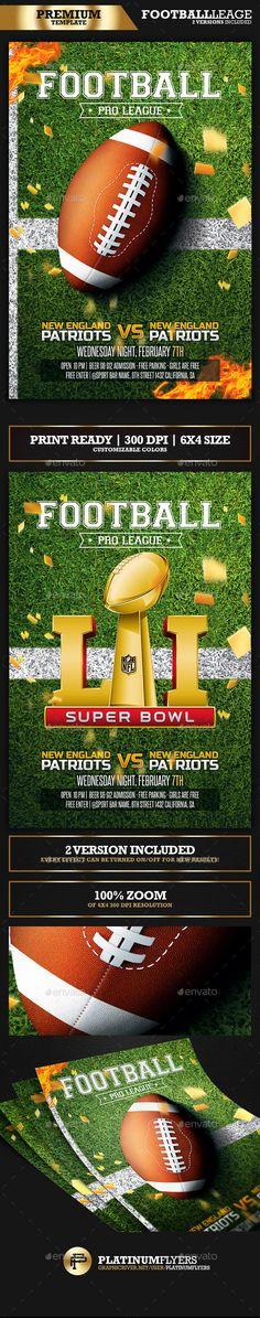 American Football Flyer / Super Bowl - Sports Events