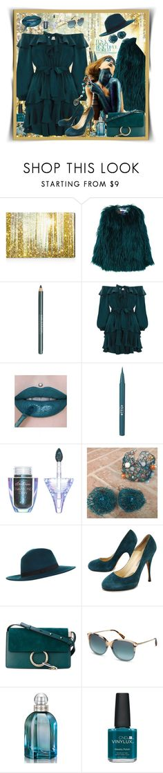 """""""Teal - The Real Deal"""" by belladonnasjoy ❤ liked on Polyvore featuring Oliver Gal Artist Co., MANGO, MAKE UP FOR EVER, Zimmermann, Stila, Lime Crime, Miss Selfridge, Brian Atwood, Chloé and TOMS"""
